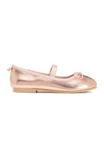 Ballet pumps with strap - Rose gold - Kids | H&M CN 3